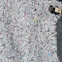 코로나19 여파로 늘어난 재활용 쓰레기