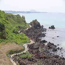 济州岛的夏日海边