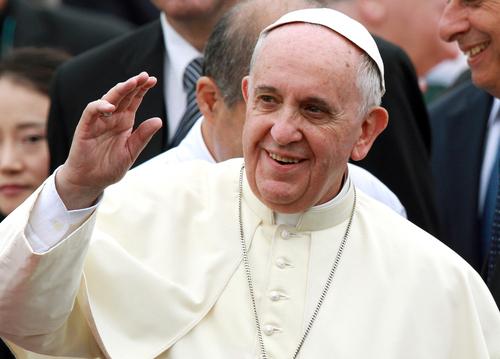 Papst eingetroffen