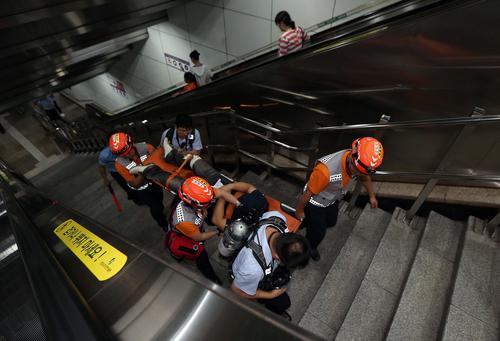 Subway Terror Drill