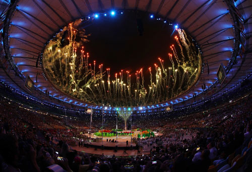 Fireworks Mark End of Rio Games