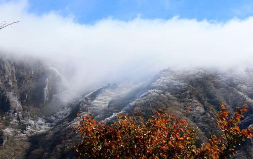 秋と冬が共存する漢拏山