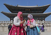 No Chinese Tourists at Gyeongbok Palace