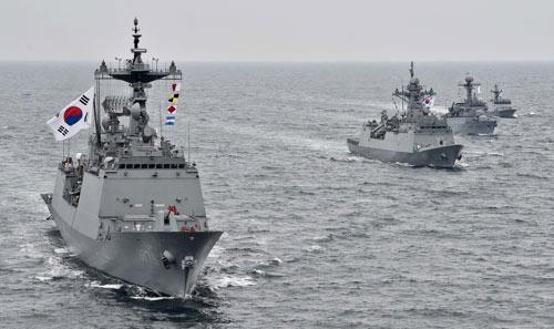 Exercices de la Journée de défense de la mer Jaune