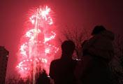 ソウルの空を彩る花火