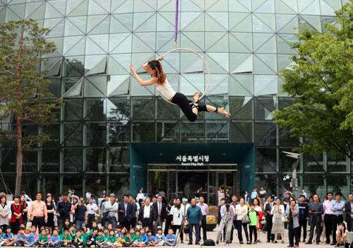 Air Hoop Stunt
