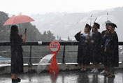 Graduation in Rain