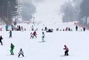 Diversión en la pista de esquí