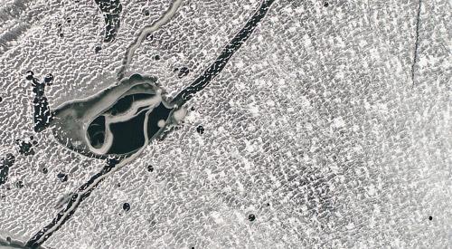 Han-Fluss zugefroren
