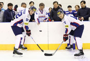 Cheers for Korean Ice Hockey