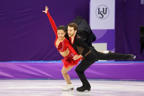 Pareja de patinaje artístico de Corea