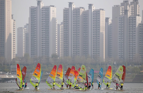 Windsurfing Parade on Han River