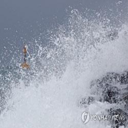 Тайфун идёт на север