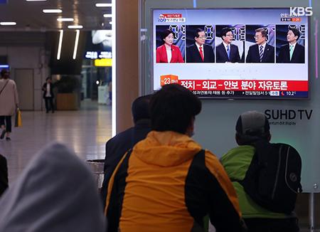 Präsidentschaftskandidaten streiten bei Fernsehdebatte über Sicherheit und Nordkorea