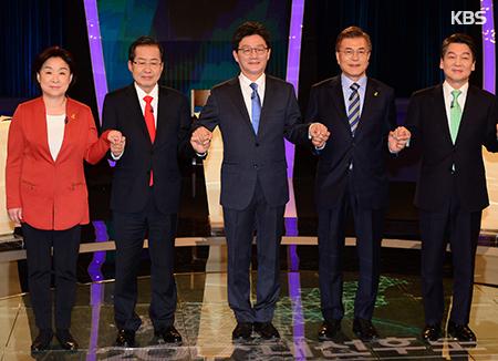 Präsidentschaftskandidaten streiten bei TV-Debatte über Sicherheit und Verfassungsreform