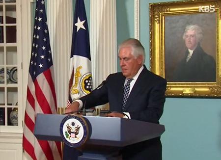 蒂勒森:将继续与北韩对话