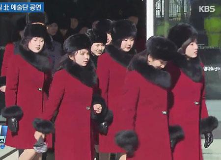 北韩拉拉队等280人7日经由陆路入境韩国
