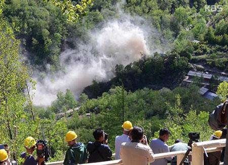 Revelan el vídeo de la voladura del centro nuclear en Punggye-ri