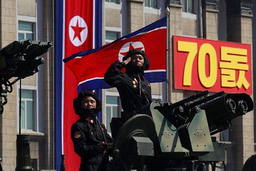 Военный парад в Пхеньяне прошёл без ракет
