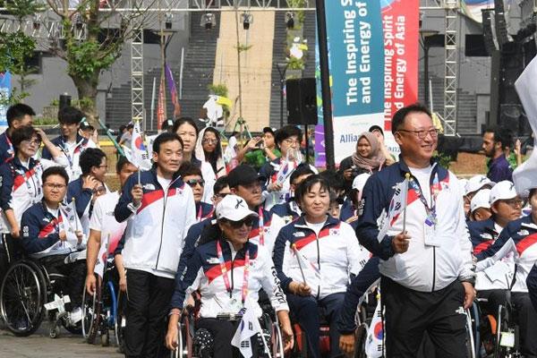 Para-Asienspiele: Athleten der zwei Koreas ziehen ins Athletendorf ein