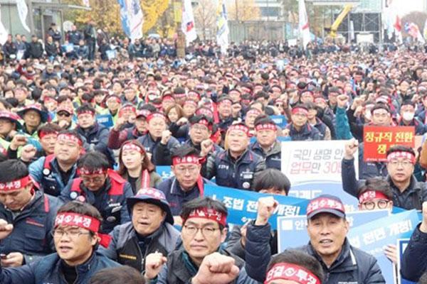 Hai Tổng liên đoàn lao động lớn tại Hàn Quốc tăng mạnh số thành viên