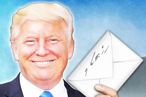 Tổng thống Donald Trump khoe nhận được thư tay từ Chủ tịch Kim Jong-un