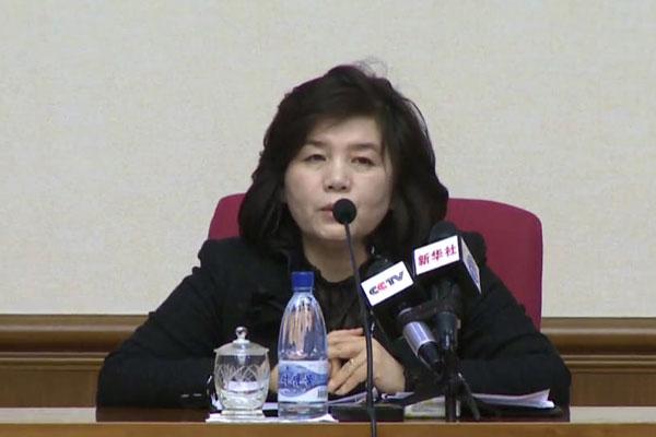 崔善姬提议美国9月下旬对话