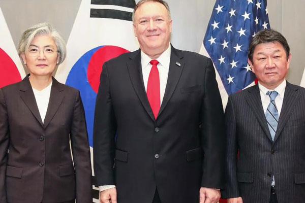 Menteri Luar Negeri Korsel, AS, dan Jepang Gelar Pertemuan