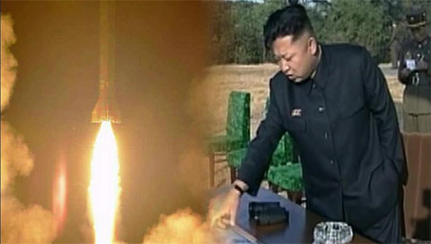 N. Korean Leader Inspects Missile Launch Drill
