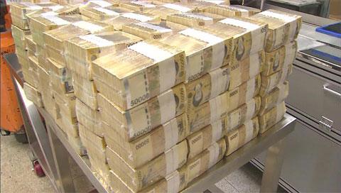 5万韩元纸币回收率仅为19.9% 高额商品券发行量则剧增