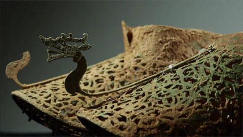 Ein Paar vergoldete Bronzeschuhe aus Baekje-Zeit gefunden