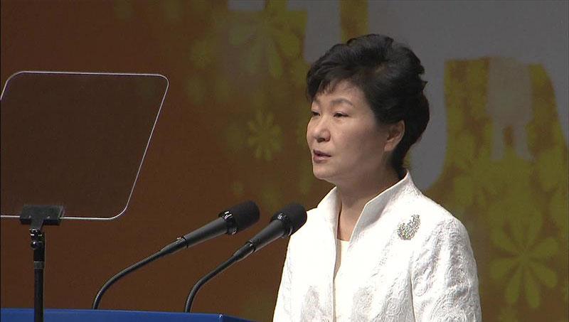 朴槿惠总统:韩日应携手一起共写未来50年新历史