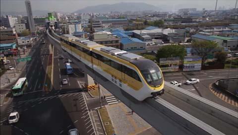 В Тэгу открылась первая в РК городская монорельсовая дорога