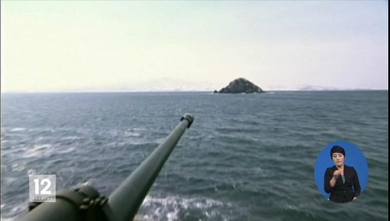 北韓 延坪島付近の無人島に放射砲陣地構築
