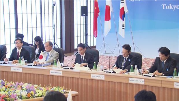 韓日中外相会議 北韓への国際的対応主導で合意