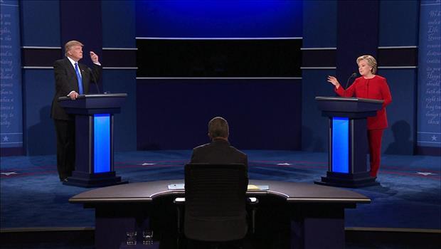 انعقاد أولى المناظرات الرئاسية بين كلينتون وترامب