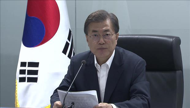 韓米合同演習は防御が目的 文在寅大統領