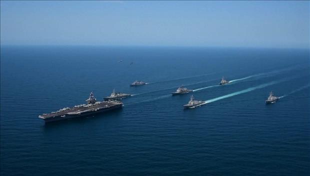 韓米海軍 16日から合同軍事演習