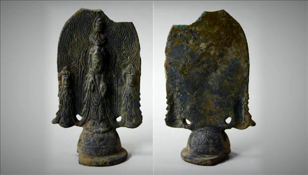 Khai quật bức tượng Phật phỏng đoán có từ thế kỷ thứ VI