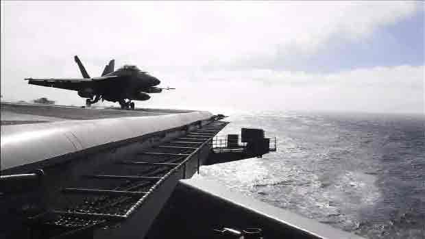 韓米合同軍事演習 米空母3隻が参加