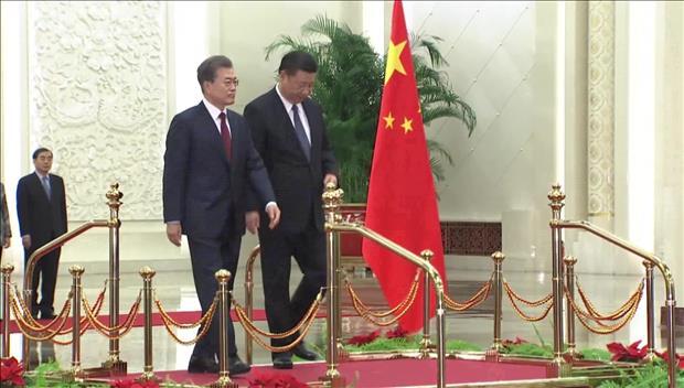 Los líderes de Corea del Sur y China se reúnen en Beijing