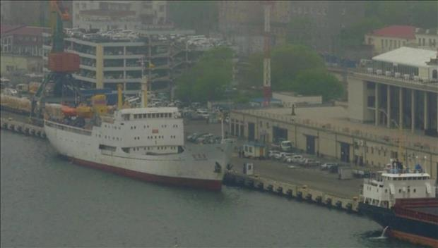 """北韩货客船""""万景峰号""""在符拉迪沃斯托克被拒绝入港"""