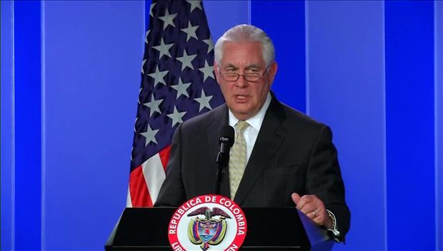 """蒂勒森谈美北接触称""""将继续关注"""" 美媒高度关注金与正访韩"""