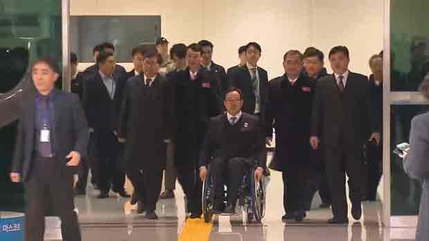 N. Korean Paralympic Delegation Arrives in South