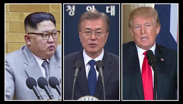 文总统:南北韩、美北峰会后有望举行三方首脑会谈
