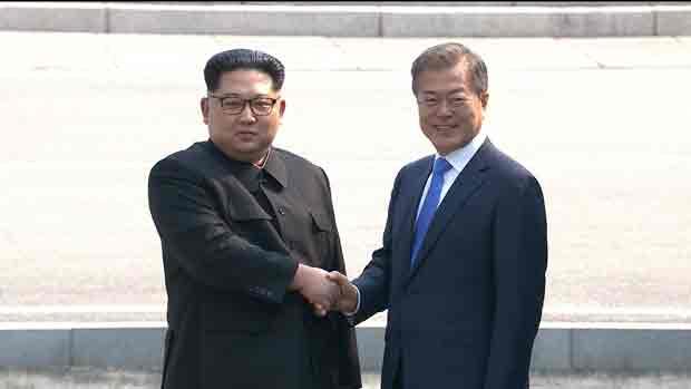 Moon und Kim begannen Spitzengespräch um 10.15 Uhr