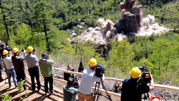 北韓 核実験場の坑道を爆破