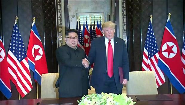 歴史的な米朝首脳会談始まる