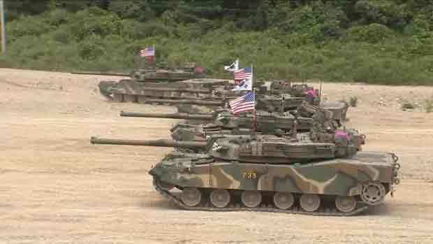 韓米合同軍事演習 軍当局が中止を発表