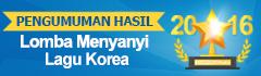Pengumuman Hasil Lomba Menyanyi Lagu Korea 2016